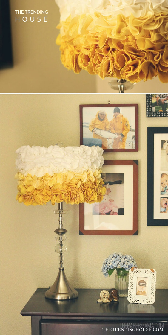 Ruffled Ombre Lampshade