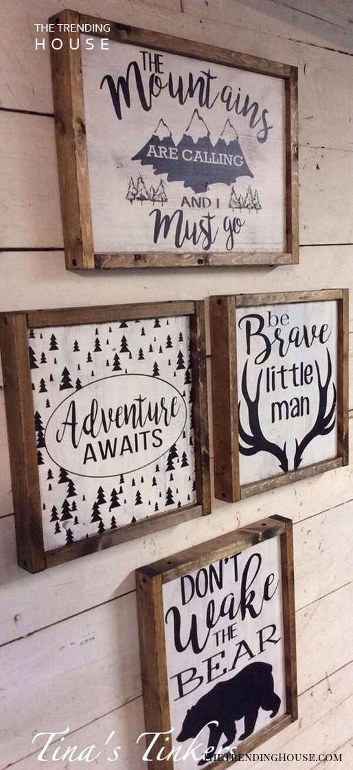 Rugged Sayings in Wooden Frames