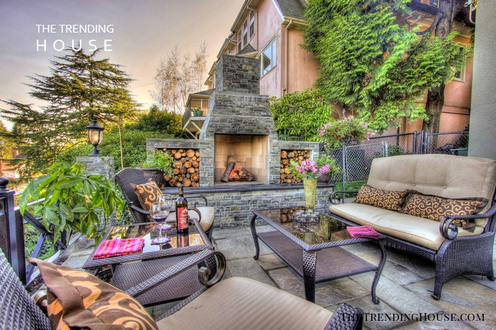 Rustic Charm Meets Elegant Outdoor Living