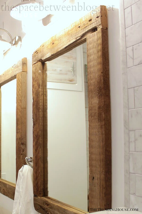 Rustic Country Vibe Wooden Mirror