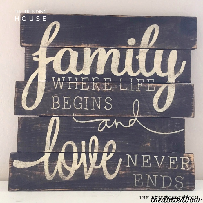 Rustic Reminder of Family Love