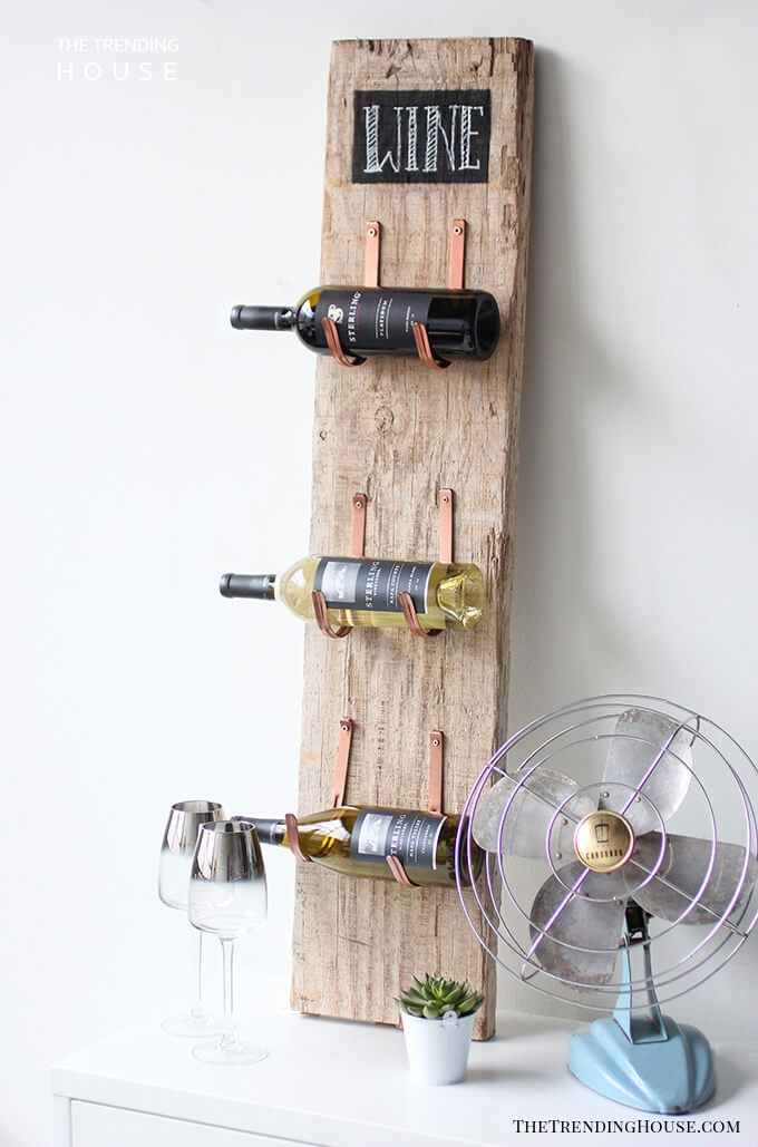 Rustic Wood Board Wine Rack