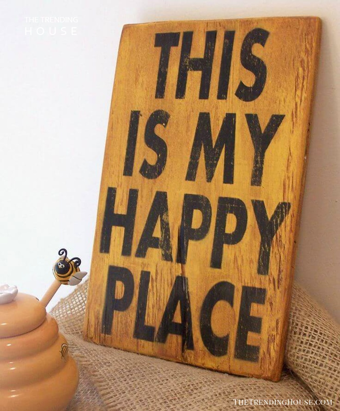 Rustic Wood Sign Idea with Inspirational Quote