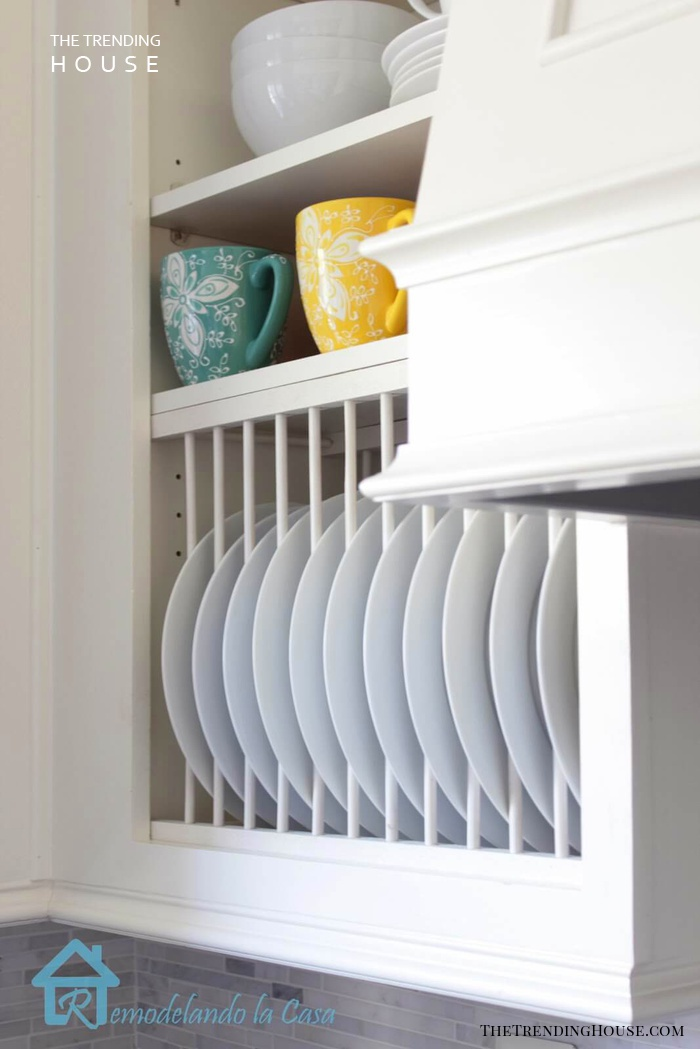 Save Space with a DIY Plate Rack