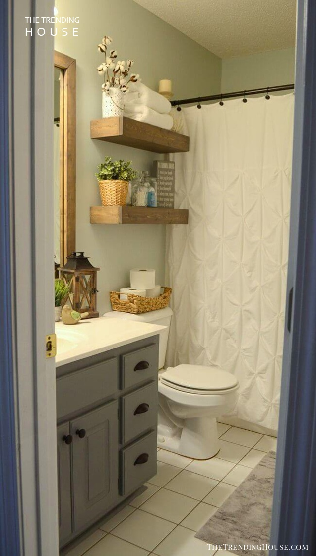 25 Brilliant Diy Bathroom Shelf Ideas