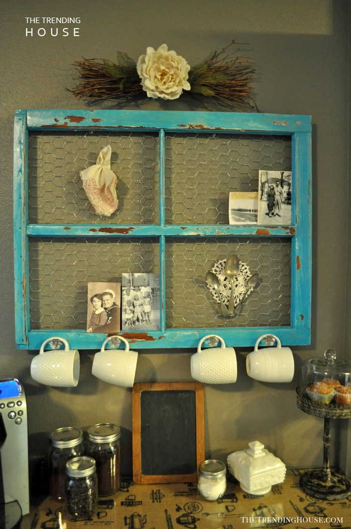 Shabby Chic Coffee Mug Rack