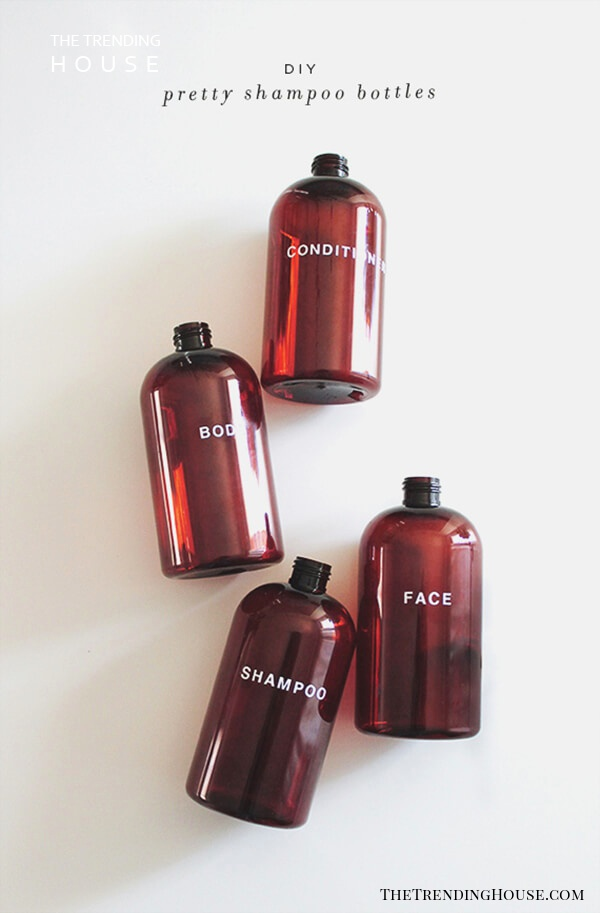 Shampoo Bottle Cheap And Easy DIY Bathroom Ideas