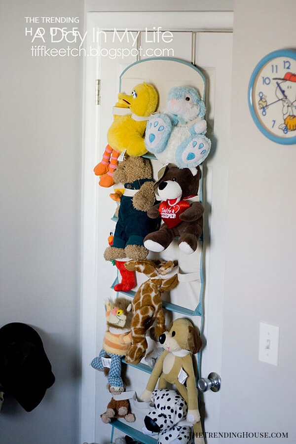 Shoe Organizer Turned Hanging Toy Storage