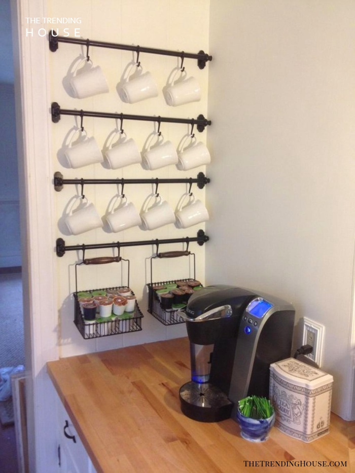 Simple, Neat and Sweet Coffee Station Décor