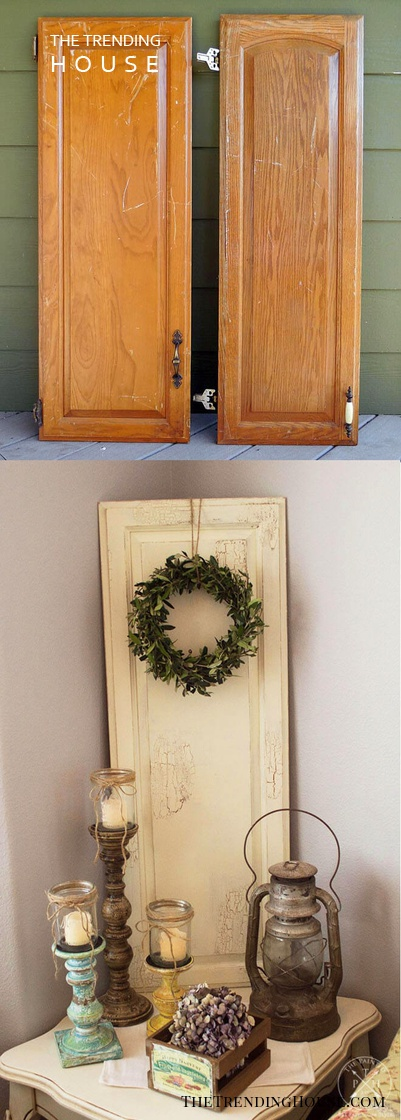 Simple Painted Plank Wreath Decor