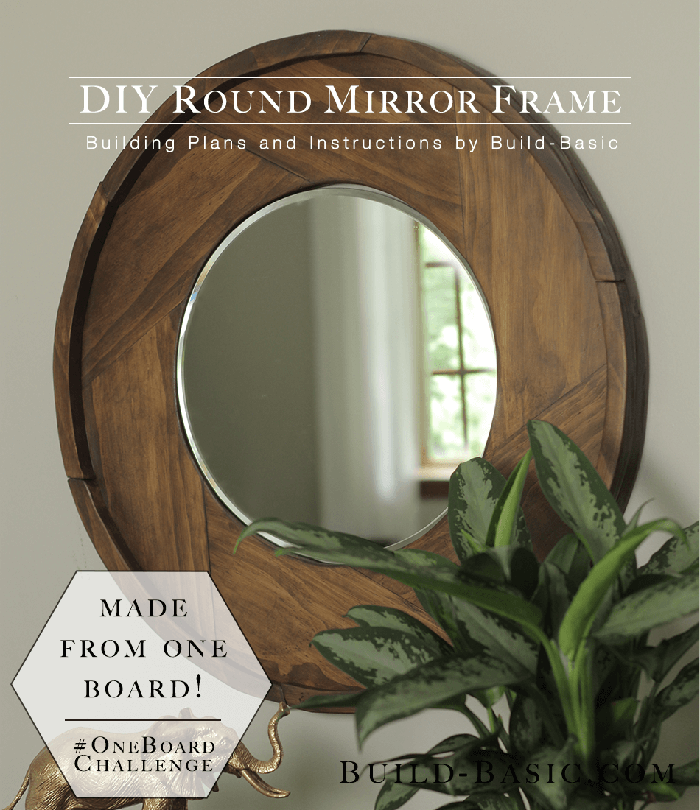 Sleek Circular Wooden Frame