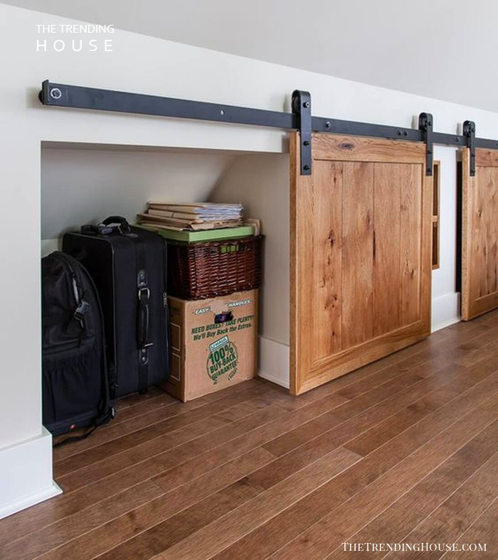 Sliding Barn Door Storage Nooks