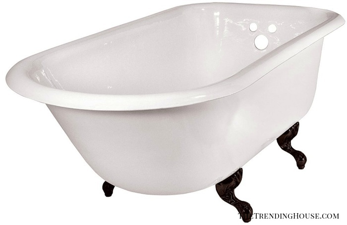 ECR54BORB Traditional 54-Inch Cast Iron Roll Top Tub from Elizabethan Classics