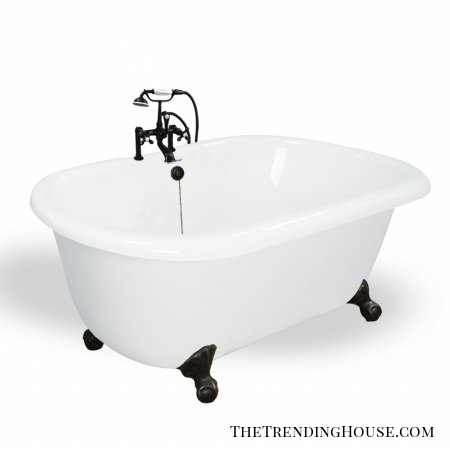 T070F-OB Melinda 60 inch White Acrastone Bath Tub from American Bath Factory