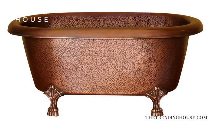 COTDRN31-AC-AC Picasso Double Roll Top Copper Tub from Barclay