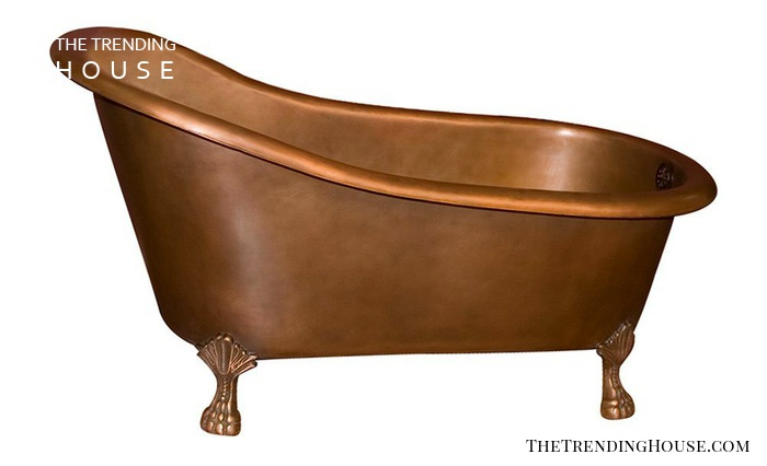 COTSN55-SAC-AC Oreana Copper Slipper Tub by Barclay