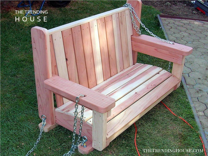 Stripped Paint-Your-Own Wooden Swing