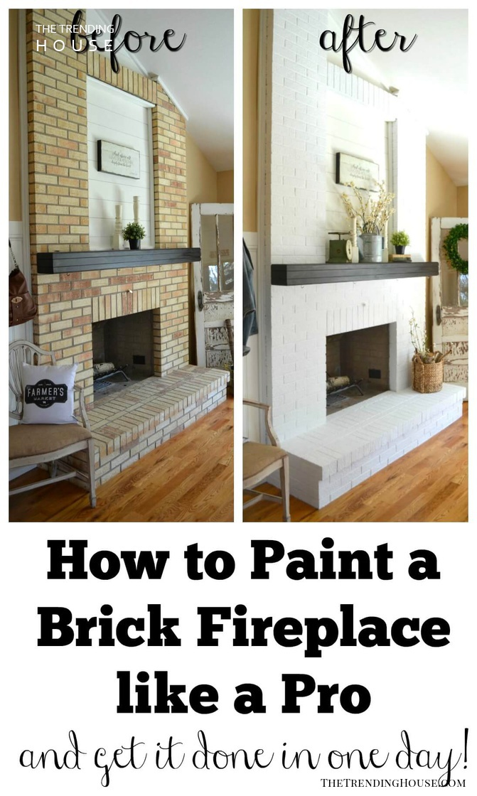 The One-Day Fireplace Makeover Hack