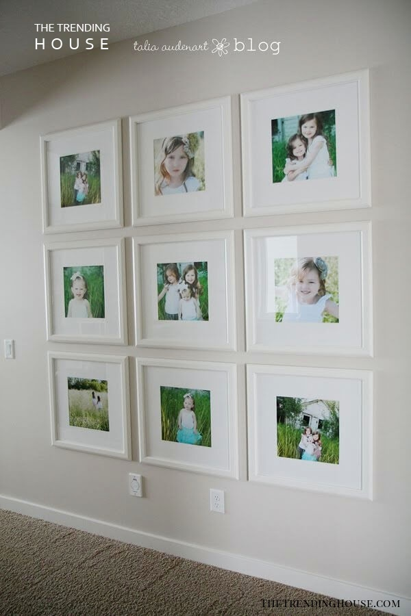 Tic Tac Toe of Pictures on White