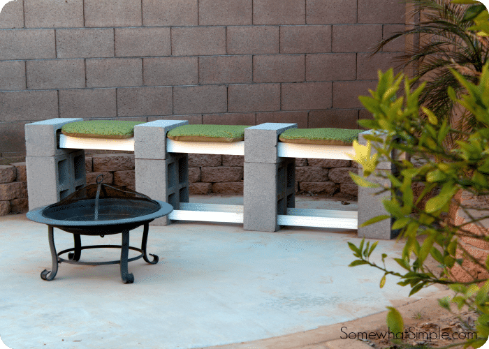 Traditional Cinder Block Bench Seating