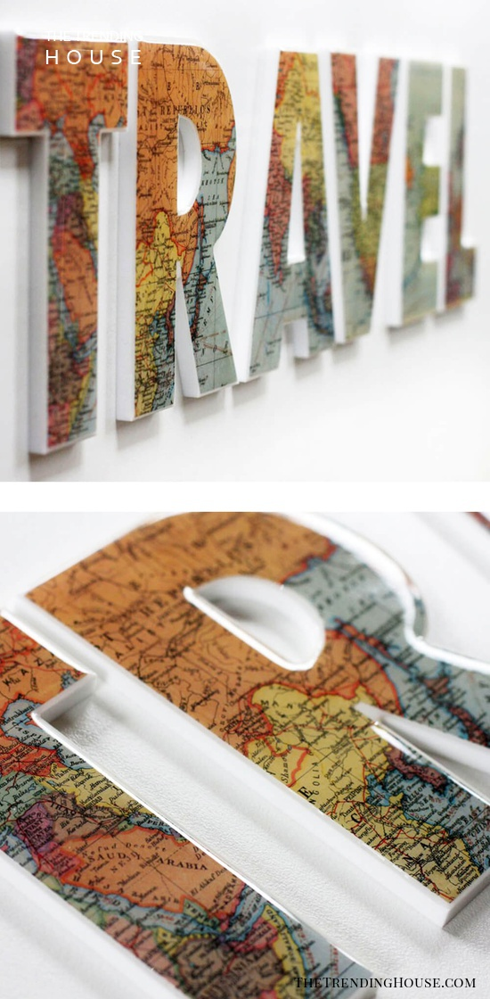Transform Old Maps Into A Statement Piece
