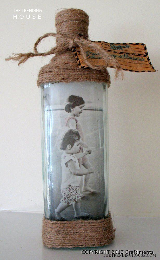 Transform a Bottle Into a Photo Display