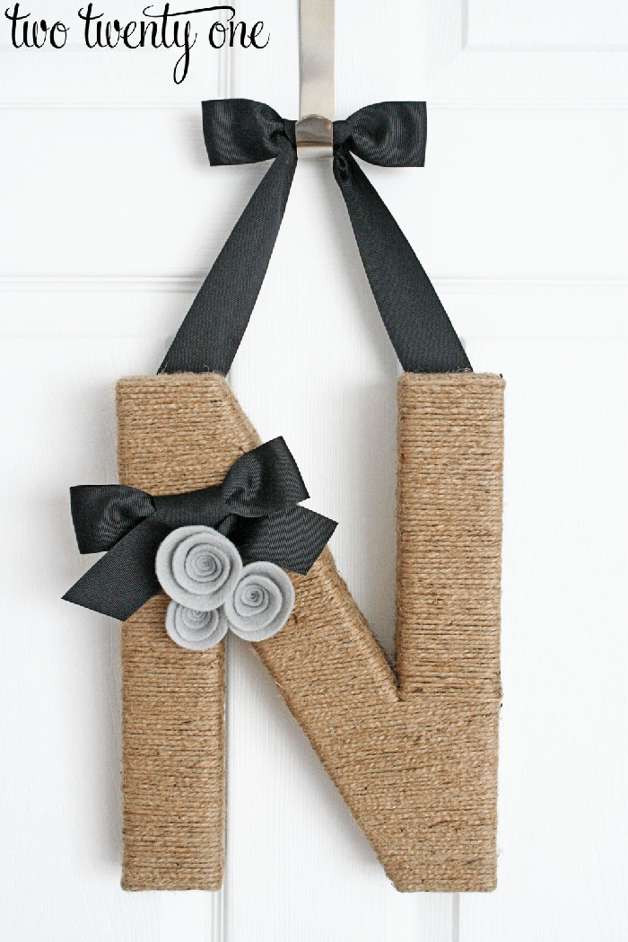 Twine Letters to Dress Up Your Door