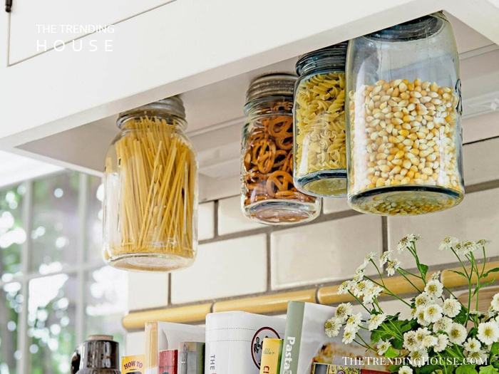 Under Cabinet Mounted Spice Jars