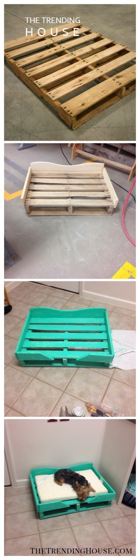 Up-cycled Pallet Project: Dog Bed