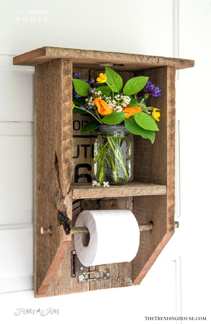 Updated Outhouse Toilet Paper Holder and Shelf