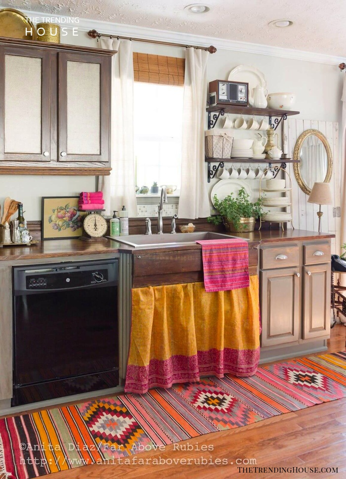24 Unique Kitchen Cabinet Curtain Ideas For An Adorable Home Decor Style The Trending House
