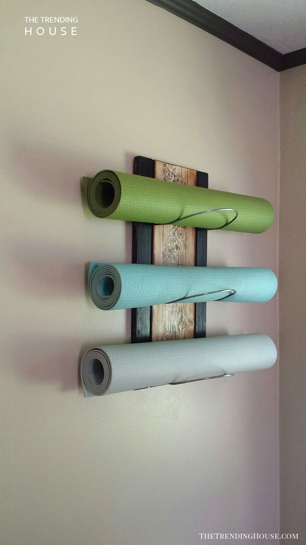 Wall-Mounted Yoga Mat Holder