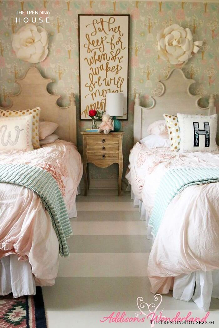 Warm and Cozy Twin Beds for Sisters