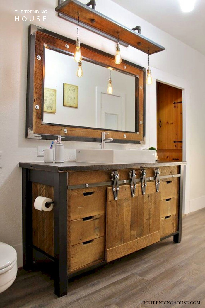 35 Rustic Bathroom Vanity Ideas To Inspire Your Next Renovation The Trending House