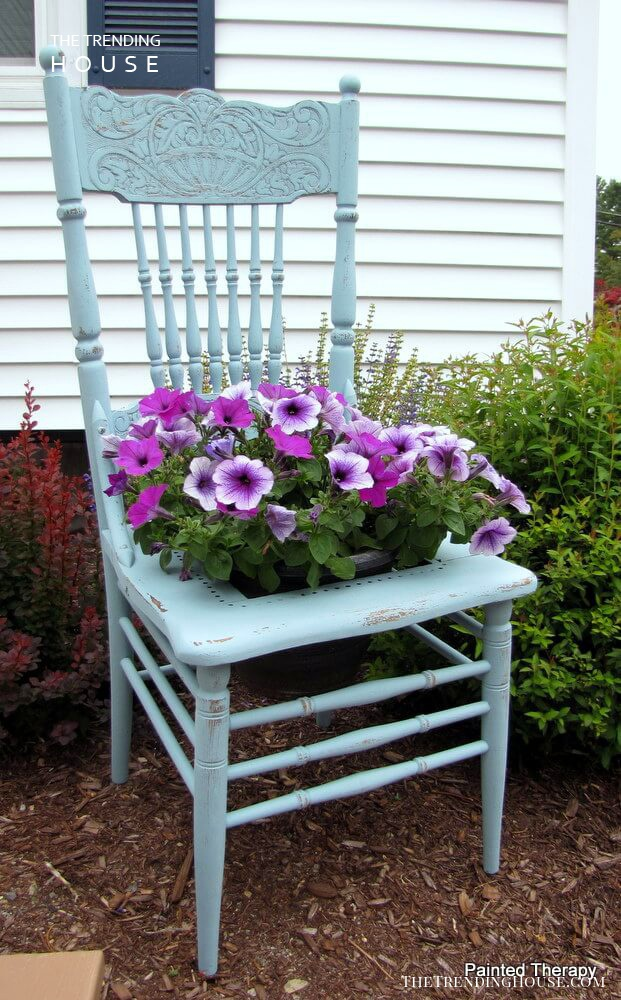 Welcome Your Guests with a Chair Planter