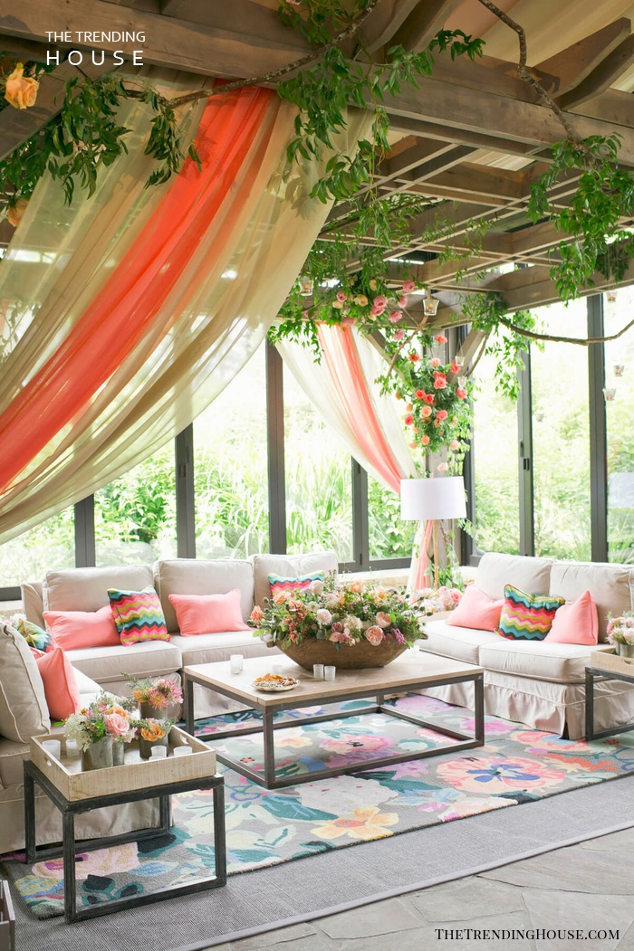 Whimsical Sheer Fabric in Bold Colors
