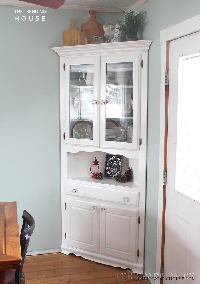 White China Cabinet in the Corner
