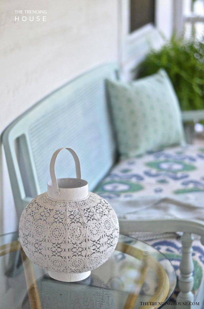 White Lace Cut Table Lamp
