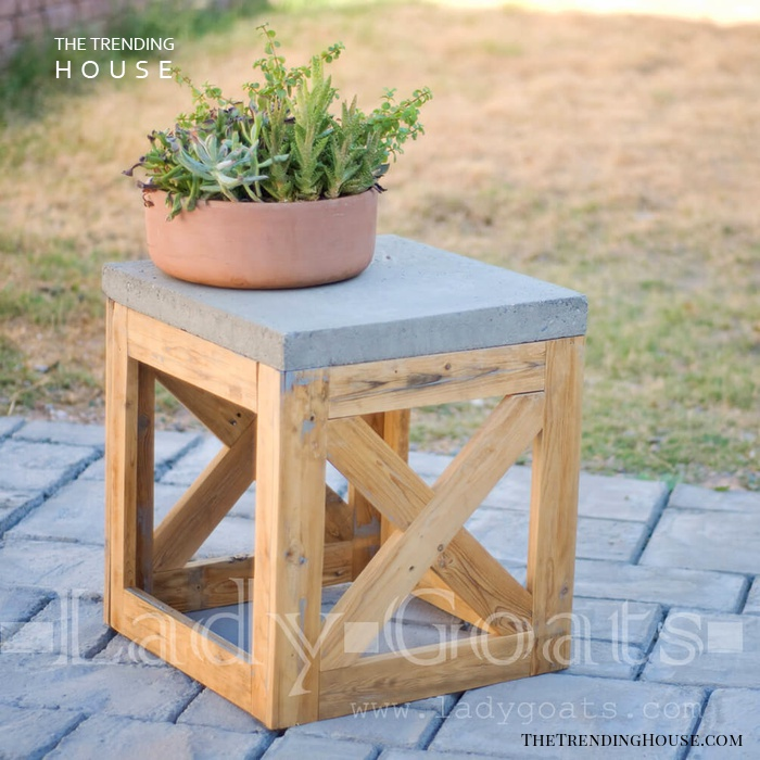 X Marks the Spot Square End Table