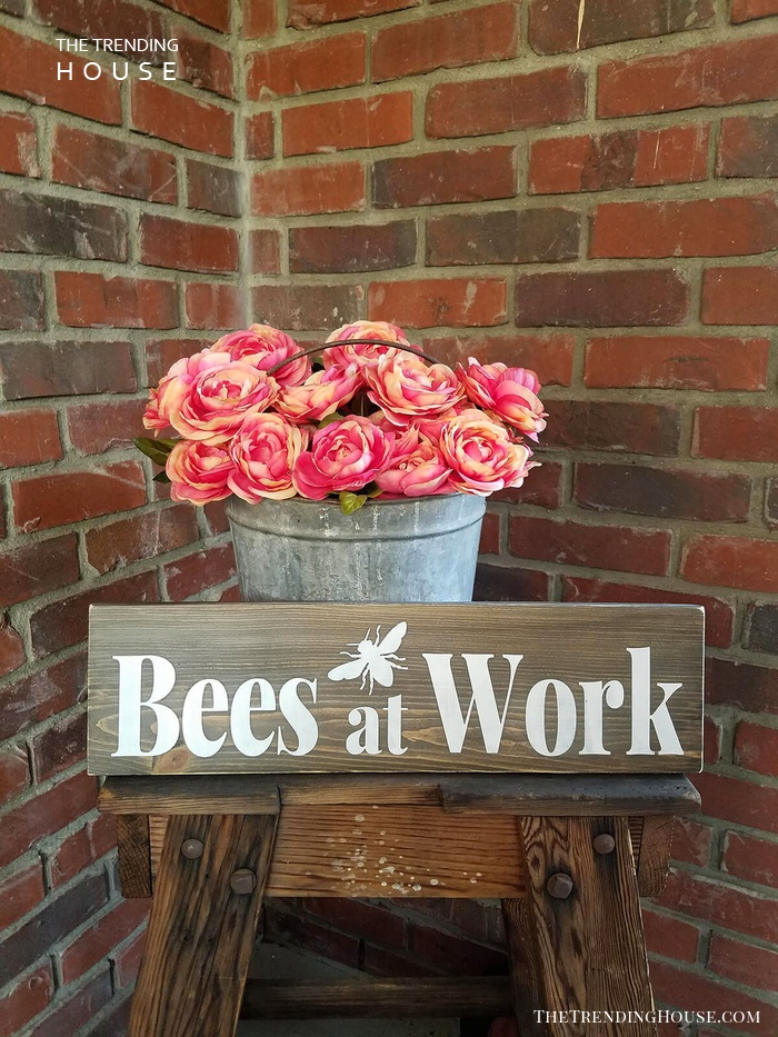 """Bees At Work"" Sign"