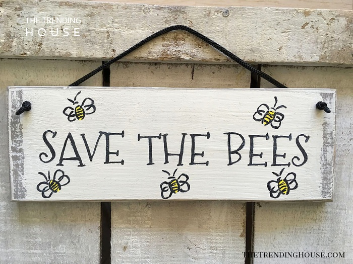 """Save The Bees"" Garden Sign"