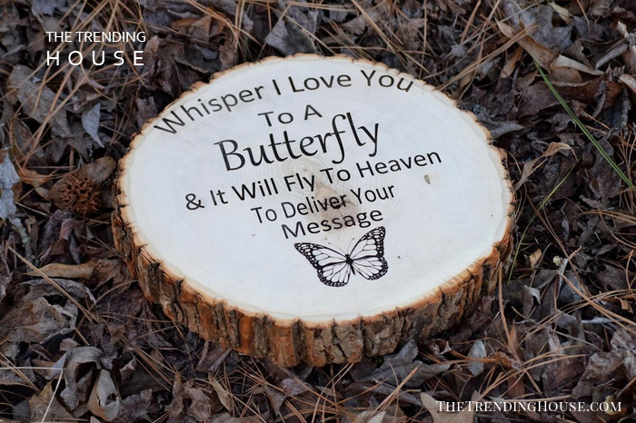 """Whisper I Love You to a Butterfly"" Garden Stepping Stone"